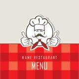 Conception de menu de chef Photos stock