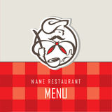 Conception de menu de chef Image libre de droits