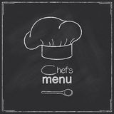 Conception de menu de chefs de restaurant Image stock