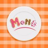 Conception de menu de dessert Photos libres de droits