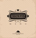 Conception de menu de restaurant Photographie stock