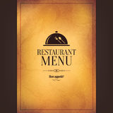 Conception de menu de restaurant Photos stock