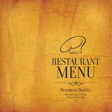 Conception de menu de restaurant Image libre de droits