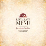 Conception de menu de restaurant Photographie stock libre de droits