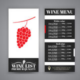 Conception de menu pour des cafés de vin, restaurants Photos libres de droits
