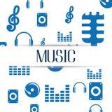 Conception de mode de vie de musique Images stock