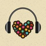 Conception de mode de vie de musique Image libre de droits