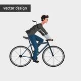 Conception de mode de vie de vélo Images libres de droits