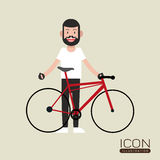 Conception de mode de vie de vélo Photo stock