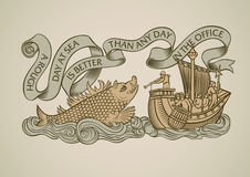 Conception de monstre de mer illustration stock