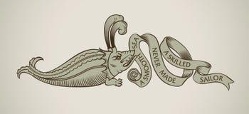 Conception de monstre de mer illustration de vecteur