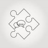 conception de morceau de puzzle Photos libres de droits