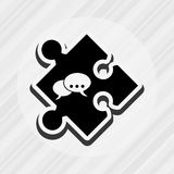 conception de morceau de puzzle Photographie stock libre de droits