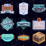 Conception de motivation de typographie Rétro et vintage Photographie stock libre de droits
