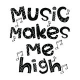 Conception de musique Image stock