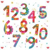 Conception de nombres Images stock