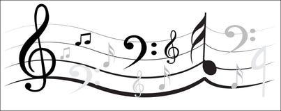 Conception de note de musique Images stock