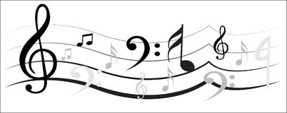 Conception de note de musique Photos libres de droits