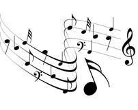 Conception de notes de musique Images libres de droits