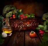 Conception de nourriture - légumes frais photo stock
