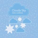 Conception de nuages Images libres de droits