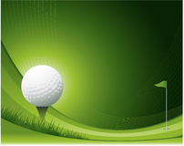 Conception de ondulation de golf illustration stock