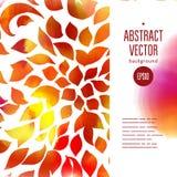 Conception de page d'aquarelle de Digital avec les feuilles d'automne chaudes Image libre de droits