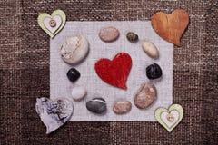 Conception de papier peint de fond d'amour de musique de coeur Photographie stock libre de droits