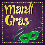 Conception de partie de carnaval de mardi gras illustration libre de droits