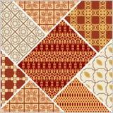 Conception de patchwork dans le style d'art déco La tuile décorative d'abrégé sur vecteur dans le style a piqué des corrections d Images libres de droits