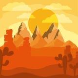 Conception de paysage de désert Images libres de droits