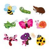 Conception de personnages d'insectes illustration de vecteur