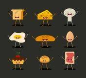 Conception de personnages de nourriture Image stock