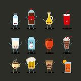 Conception de personnages de nourriture Photographie stock