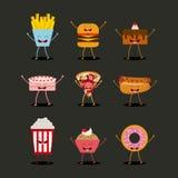 Conception de personnages de nourriture illustration libre de droits