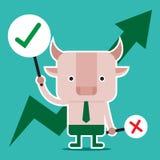 Conception de personnages et concept d'affaires Illustration de symb de taureau Photos stock