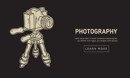 Conception de photographie avec l'appareil-photo d'isolement sur une ligne peu précise tirée par la main Art Style Drawing de ban Photo libre de droits