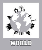 Conception de planète Photographie stock libre de droits
