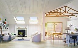Conception de plancher de grenier Image libre de droits