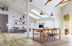 Conception de plancher de grenier Images stock