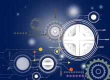 Conception de pointe o coloré de technologie numérique d'illustration de vecteur illustration stock