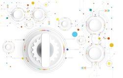 Conception de pointe de technologie numérique d'illustration de vecteur colorée sur la carte illustration libre de droits