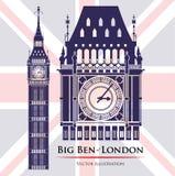 Conception de points de repère de Londres Photos stock