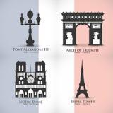Conception de points de repère de Paris Images libres de droits