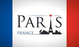 Conception de points de repère de Paris Photographie stock libre de droits