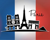 Conception de points de repère de Paris Image libre de droits