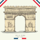 Conception de points de repère de Paris illustration de vecteur