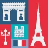 Conception de points de repère de Paris Photos stock
