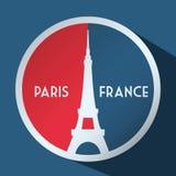 Conception de points de repère de Paris Image stock