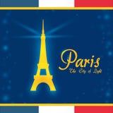 Conception de points de repère de Paris Photo stock